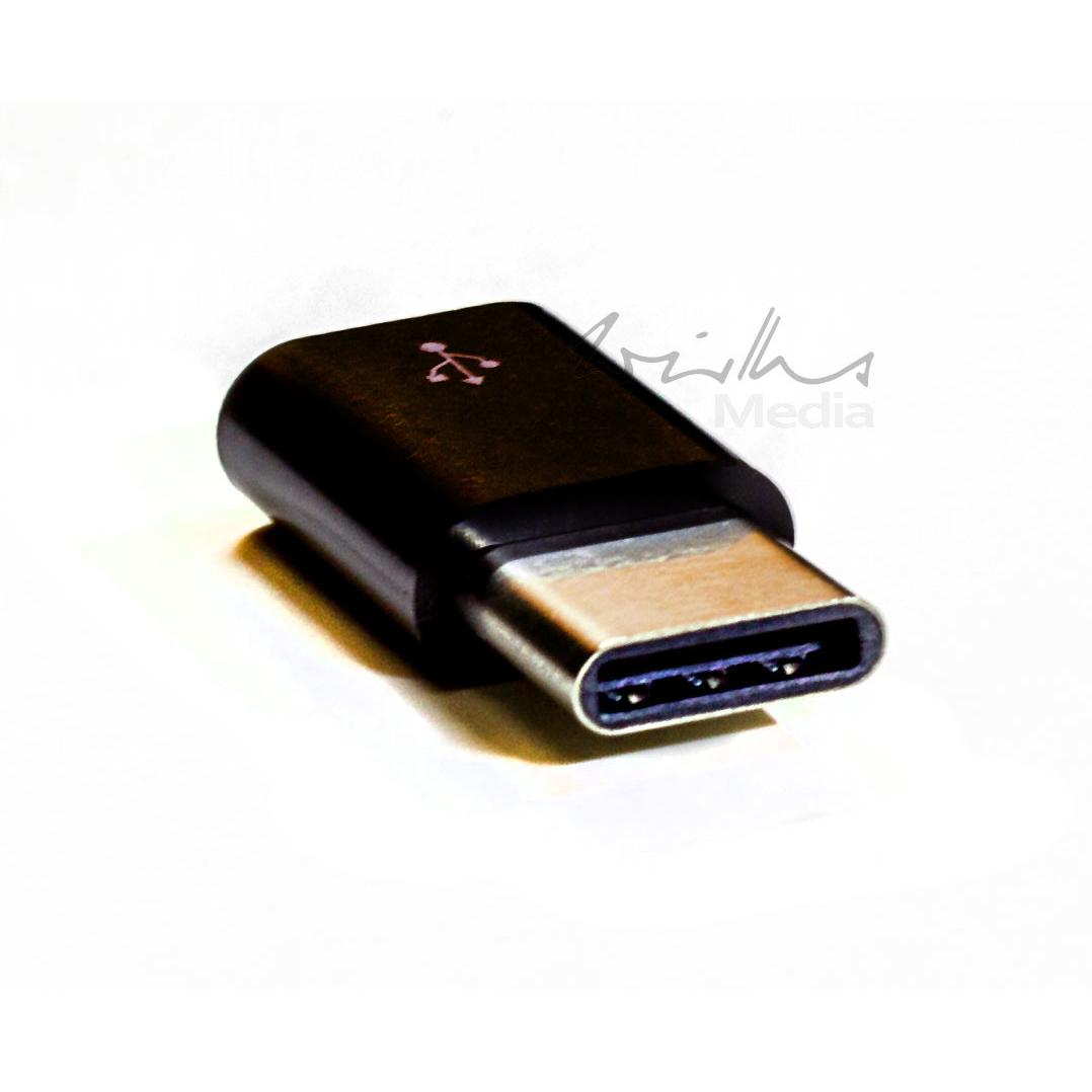 Raspeberry Pi Adapter micro USB Buchse - USB Type C Stecker schwarz