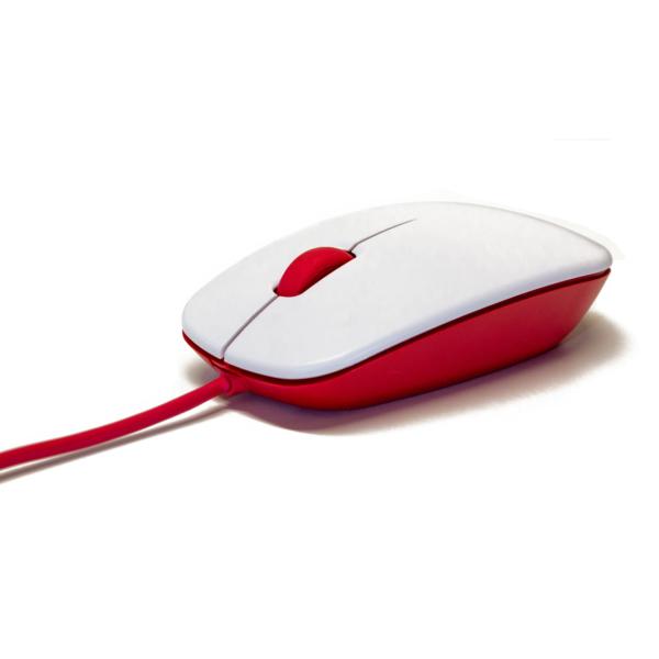 offizielle Raspberry Pi Maus, rot/weiß