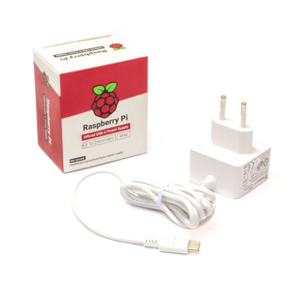 Raspberry Pi 15W USB-C Netzteil Weiß EU