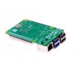 Raspberry Pi 4 Computer Modell B Unterseite